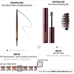 NIB Hourglass Brow set - clear gel & micro pencil